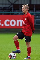 NEWPORT, WALES - Tuesday, April 3, 2018: Wales' Jessica Fishlock during a training session at Dragon Park ahead of the FIFA Women's World Cup 2019 Qualifying Round Group 1 match between England and Wales. (Pic by Rebecca Neaden/Propaganda)