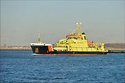 Nederland, The Netherlands, Rotterdam, 3-3-2015Het oliebestrijdingsvaartuig Arca. Multifunctioneel vaartuig, oliebestrijding en meetwerkzaamheden. De Arca wordt ingezet bij oliebestrijding en doet daarnaast hydrografisch en oceanografisch onderzoek. Rijkswaterstaat Directie Noordzee, Ministerie van Verkeer & Waterstaat, gebouwd in 1998 bij Damen Shipyard te Gorinchem.FOTO: FLIP FRANSSEN/ HOLLANDSE HOOGTE