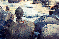 source innocence: the nonjudgmental, friendship, curiosity state of mind.<br /> <br /> ::::::::::::::::::::::::::::::::::::::::::::::::::::::::::<br /> <br /> Buddha head on a river boulder.