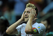 Poland's Jakub Blaszczykowski reacts after his goal was unrecognized during the FIFA World Cup 2014 group H qualifying football match of Poland vs Montenegro on September 6, 2013 in Warsaw, <br />Photo by: Piotr Hawalej