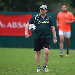 DURBAN, SOUTH AFRICA - SEPTEMBER 01: John McFarland (Defence Coach) of South Africa during the South African national rugby team training session at Peoples Park on September 01, 2015 in Durban, South Africa. (Photo by Steve Haag/Gallo Images)
