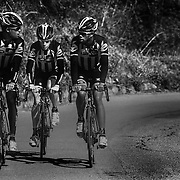 "Natnael Berthane (Erythee), Louis Meintjes (Afrique du Sud)et Jim Songezo (Afrique du Sud). MTN Team Qhubeka the first African cycling team to compete in the Tour de France 2015 - Team MTN-Qhubeka was founded in 2007, steadily working its way up from a regional team to now being a Continental Pro Team with bases in south Africa and Italy. MTN-Qhubeka p/b Samsung's goal is to give talented African riders a path into the propeloton, while raising funds for the Qhubeka Charity. Qhubeka is an Nguni(Zulu, Xhosa) word that means ""to carry on"", ""to progress"",""to move forward"".Qhubeka helps people move forward and progress by giving bicycles in return for work done to improve communities the environment or academic results."