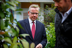 © Licensed to London News Pictures. 01/07/2016. London, UK. Conservative leadership candidate and Justice Secretary MICHAEL GOVE leaves his house in west London on Friday, 1 July 2016. Photo credit: Tolga Akmen/LNP