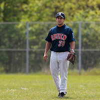 25 April 2010: Mark Terrana of Rouen is seen in the left field during game 1/week 3 of the French Elite season won 12-4 by Rouen over the PUC, at the Pershing Stadium in Vincennes, near Paris, France.