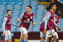 Ciaran Clark of Aston Villa celebrates scoring a goal to make it 1-0 - Mandatory byline: Rogan Thomson/JMP - 19/01/2016 - FOOTBALL - Villa Park Stadium - Birmingham, England - Aston Villa v Wycombe Wanderers - FA Cup Third Round Replay.
