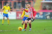 Exeter City's Tom McCready during the Sky Bet League 2 match between Exeter City and Accrington Stanley at St James' Park, Exeter, England on 23 January 2016. Photo by Graham Hunt.