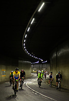 Riders cycle under the Hyde Park Underpass during The Prudential RideLondon Sportives. Sunday 29th July 2018<br /> <br /> Photo: Ben Queenborough for Prudential RideLondon<br /> <br /> Prudential RideLondon is the world's greatest festival of cycling, involving 100,000+ cyclists - from Olympic champions to a free family fun ride - riding in events over closed roads in London and Surrey over the weekend of 28th and 29th July 2018<br /> <br /> See www.PrudentialRideLondon.co.uk for more.<br /> <br /> For further information: media@londonmarathonevents.co.uk