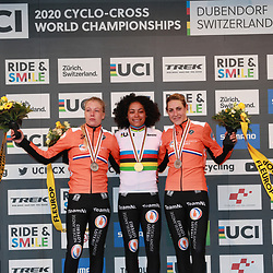 01-02-2020: Wielrennen: WK Veldrijden: Dubendorf<br />Ceylin del Carmen Alvarado, Annemarie Worst; Lucinda Brand