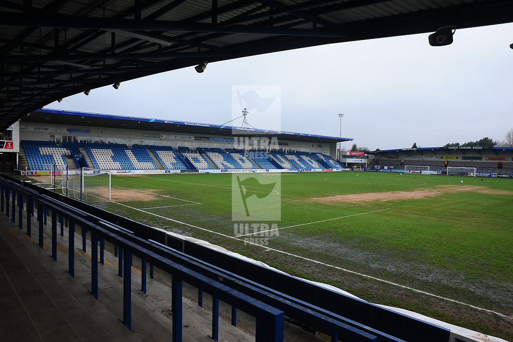 TELFORD COPYRIGHT MIKE SHERIDAN A general view of the Bucks Head pitch during the Vanarama Conference North fixture between AFC Telford United and Alfreton Town at the New Bucks Head Stadium on Thursday, December 26, 2019.<br /> <br /> Picture credit: Mike Sheridan/Ultrapress<br /> <br /> MS201920-036