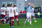Manchester City Women forward Ellen White (18) reacts during the FA Women's Super League match between Manchester City Women and West Ham United Women at the Sport City Academy Stadium, Manchester, United Kingdom on 17 November 2019.