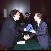 Scudetti 1987. Le premiazioni a Milano<br /> de michelis