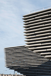 View of the new V&A Museum at Discovery Point in Dundee, Tayside, Scotland, United Kingdom.