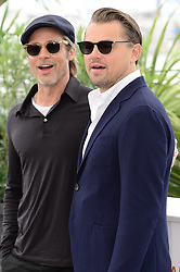 May 22, 2019 - WORLD RIGHTS.Cannes, France, 22.05.2019, 72th Cannes Film Festival in Cannes. The 72th edition of the film festival will run from May 14 to May 25. .Photocall ''Once Upon A Time In Hollywood''.NZ. Brad Pitt, Leonardo DiCaprio .Fot. Radoslaw Nawrocki/FORUM (FRANCE - Tags: ENTERTAINMENT; RED CARPET) (Credit Image: © FORUM via ZUMA Press)