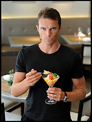 Celebrity Personal Trainer Matt Roberts after designing a special healthy menu Tuesday August 9, 2011. Matt trains the Prime Minister David Cameron amongst other celebrities.  Photo By Andrew Parsons