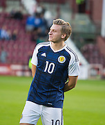 Scotland's Jason Cummings before Scotland Under-21 v FYR Macedonia,  UEFA Under 21 championship qualifier  at Tynecastle, Edinburgh. Photo: David Young<br /> <br />  - &copy; David Young - www.davidyoungphoto.co.uk - email: davidyoungphoto@gmail.com
