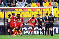 FOOTBALL - FRENCH CHAMPIONSHIP 2011/2012 - LE MANS FC v SC BASTIA   - 4/05/2015 - PHOTO PASCAL ALLEE / DPPI - JOY KERVENS FILS BELFORT (LE MANS) AFTER HIS GOAL