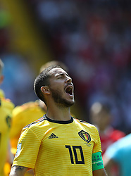 June 23, 2018 - Moscou, Rússia - MOSCOU, MO - 23.06.2018: BÉLGICA Y TÚNEZ - Eden HAZARD of Belgium celebrates their goal during the match between Belgium and Tunisia valid for the 2018 World Cup held at the Otkrytie Arena (Spartak) in Moscow, Russia. (Credit Image: © Rodolfo Buhrer/Fotoarena via ZUMA Press)