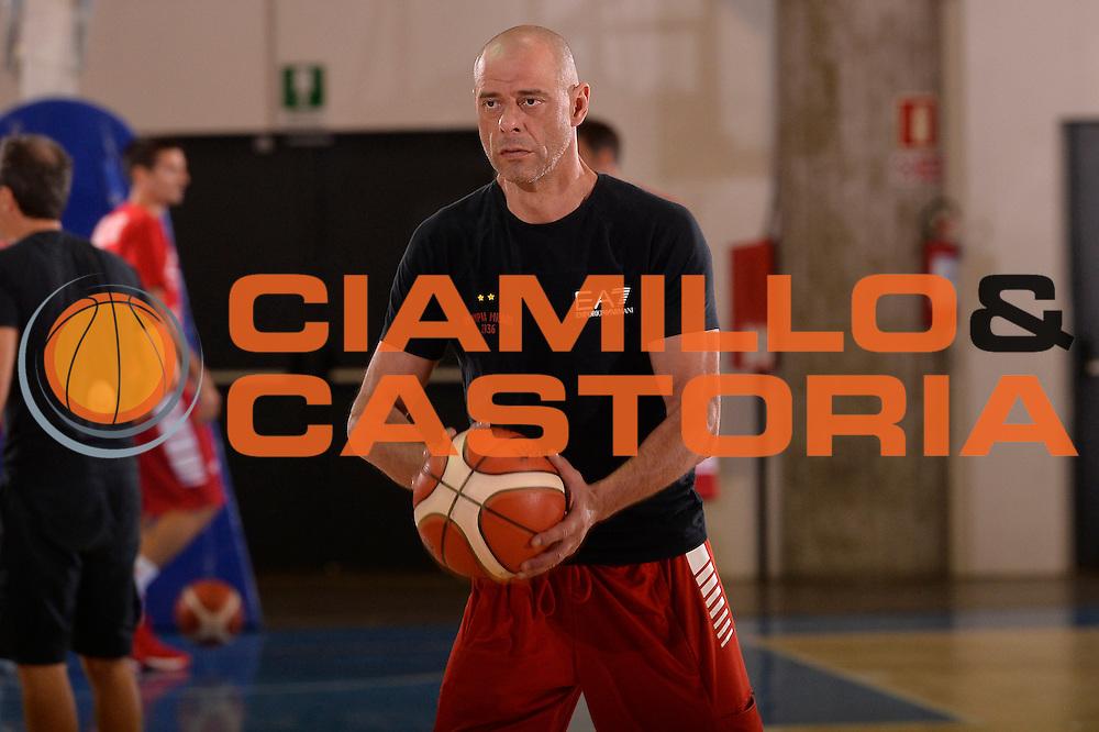 Alberto Rossini <br /> EA7 Emporio Armani Olimpia Milano allenamento<br /> Lega Basket Serie A 2016/2017<br /> Bormio 03/09/2016<br /> Foto Ciamillo-Castoria