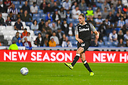 Matthew Clarke of Derby County (16) passes the ball during the EFL Sky Bet Championship match between Huddersfield Town and Derby County at the John Smiths Stadium, Huddersfield, England on 5 August 2019.
