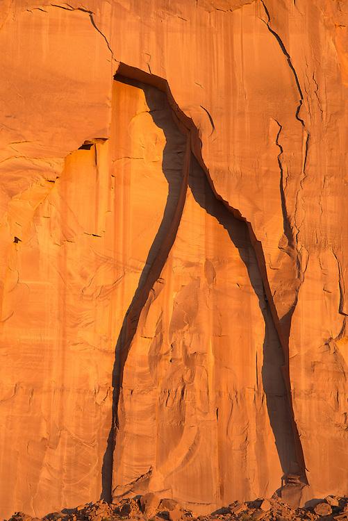 Golden sunset at Monument Valley Navajo Tribal Park, Arizona.