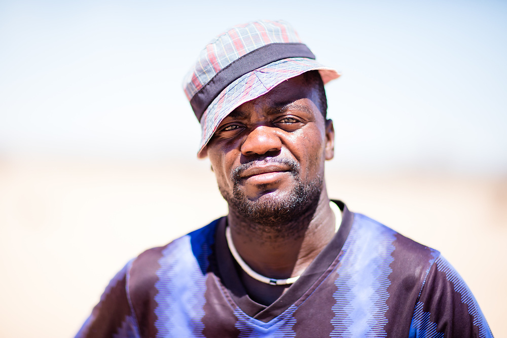 Namibian man wearing hat and t-shirt, Namibia