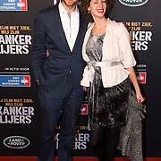 NLD/Amsterdam/20140210 - Filmpremiere Kankerlijers, Rapper Diggy Dex en partner