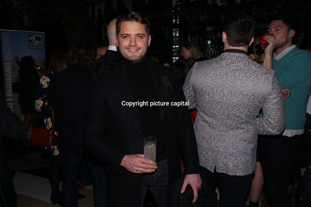 Richard Hadfield won Britain's Got Talent 2014 attend to support Hornï Underwear for London Launch Party to support global rhino conservation fundraising on 8 Feb 2018 at Cuckoo Club in London, UK.