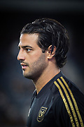 LAFC forward Carlos Vela (10) before an MLS soccer game between the LAFC and the Toronto FC. LAFC and Toronto FC tied 1-1 on Saturday, Sept 21, 2019, in Los Angeles. (Ed Ruvalcaba/Image of Sport)