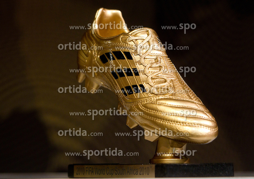 Adidas Golden Boot during FIFA World Cup 2010 on July 1, 2010 at the adidas Jo'bulani Centre in Sandton Convention Centre in Johannesburg. (Photo by Vid Ponikvar / Sportida)