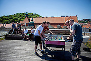 Space for employees to relax and play table soccer on the roof at the headquaters of the web portal Seznam.cz located in Prague Smichov. Seznam.cz is a web portal and search engine in the Czech Republic. Founded in 1996 by Ivo Lukačovič in Prague as the first web portal in the Czech Republic. Seznam started with a search engine and an internet version of yellow pages. Today, Seznam runs more than 15 different web services and associated brands. Seznam had more than 6 million real users per month at the end of 2014.[3] Among the most popular services, according to NetMonitor, are its homepage seznam.cz, email.cz, search.seznam.cz and its yellow pages firmy.cz