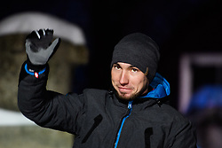 March 9, 2019 - –Stersund, Sweden - 190309 Alexander Loginov of Russia at the medal ceremony for the Men's 10 KM sprint during the IBU World Championships Biathlon on March 9, 2019 in Östersund..Photo: Petter Arvidson / BILDBYRÃ…N / kod PA / 92253 (Credit Image: © Petter Arvidson/Bildbyran via ZUMA Press)