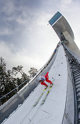 03.01.2015, Bergisel Schanze, Innsbruck, AUT, FIS Ski Sprung Weltcup, 63. Vierschanzentournee, Innsbruck, Qalifikations-Sprung, im Bild Daniel Andre Tande (NOR) // Daniel Andre Tande of Norway in the run-up trail during a trainings jump for the 63rd Four Hills Tournament of FIS Ski Jumping World Cup at the Bergisel Schanze in Innsbruck, Austria on 2015/01/03. EXPA Pictures © 2015, PhotoCredit: EXPA/ JFK