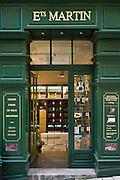 Ets Martin wine merchants fine wines shop in St Emilion in the Bordeaux wine region of France