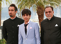 Ranvir Shorey, Amit Sial and Lalit Behl at the photo call for the film Titli at the 67th Cannes Film Festival, Monday 19th May 2014, Cannes, France.