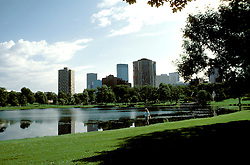 Minnesota: Minneapolis- St. Paul..Minneapolis skyline and Loring Park..Photo copyright Lee Foster, www.fostertravel.com..Photo #: mnqual101, 510/549-2202, lee@fostertravel.com