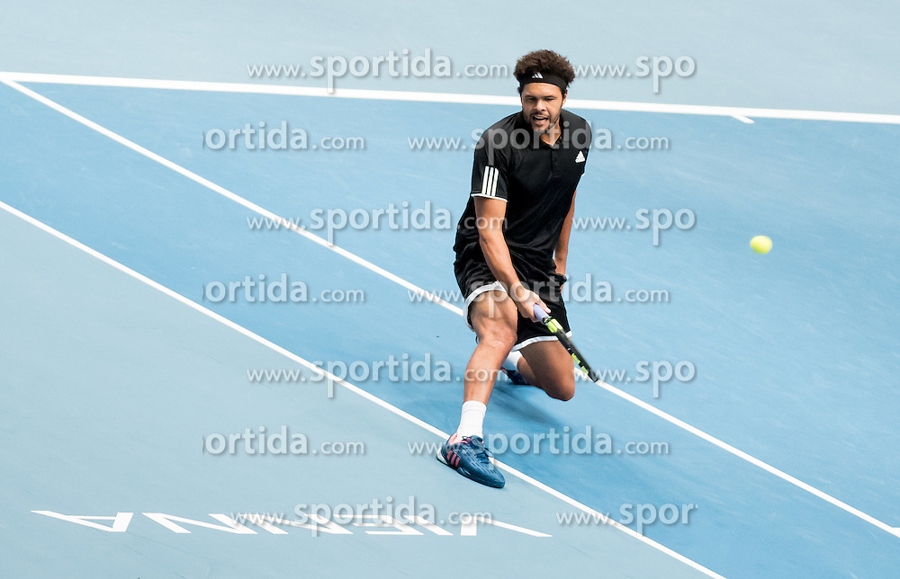 23.10.2016, Stadthalle, Wien, AUT, ATP Tour, Erste Bank Open, Tie Break Tens, Spiel um Platz 3, im Bild Jo Wilfried Tsonga (FRA) // Jo Wilfried Tsonga of France during the Tie Break Tens match for the third place of Erste Bank Open of ATP Tour at the Stadthalle in Vienna, Austria on 2016/10/23. EXPA Pictures © 2016, PhotoCredit: EXPA/ Sebastian Pucher