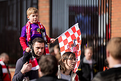 LIVERPOOL, ENGLAND - Saturday, March 23, 2019: Supporters outside Anfield before the LFC Foundation charity match between Liverpool FC Legends and Milan Glorie at Anfield. (Pic by Paul Greenwood/Propaganda)
