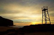 Shark Watch Tower, Dawn, Redhead Beach, Lake Macquarie, Australia