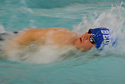 Bedford High School senior Gregory Barry competes in the 100 yard freestyle during the DCL meet at Atkinson Pool in Sudbury, Jan. 31, 2015.   (Wicked Local Photo/James Jesson)