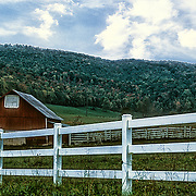Barn and fence along a Tennessee highway special effect