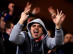 Middlesbrough fans taunt Leeds United fans with the score at 2-0 before Patrick Bamford of Middlesbrough completes the scoring by completing his hat-trick and sealing a 3-0 win - Mandatory by-line: Robbie Stephenson/JMP - 02/03/2018 - FOOTBALL - Riverside Stadium - Middlesbrough, England - Middlesbrough v Leeds United - Sky Bet Championship