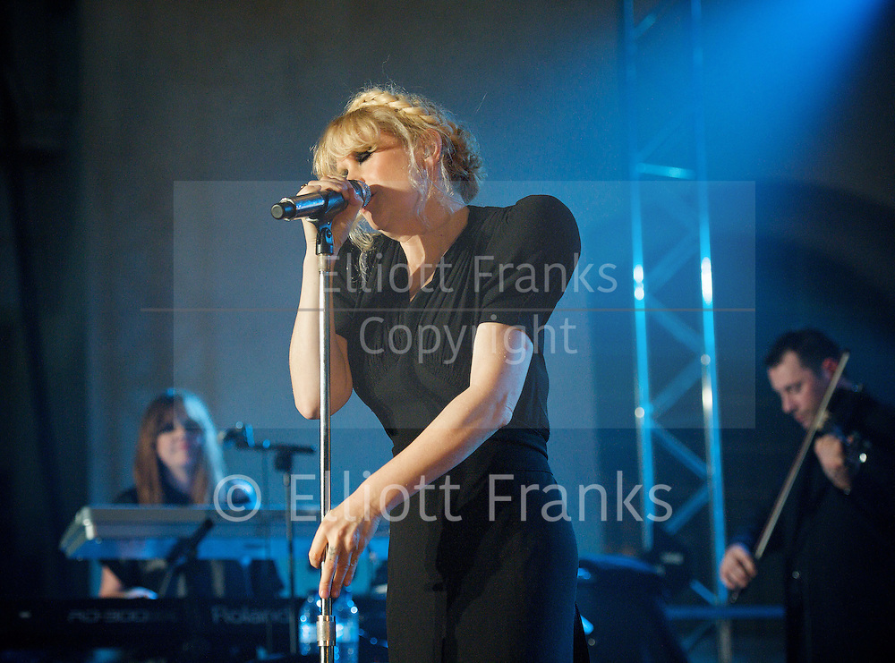 Goldfrapp <br /> live at Mencap's Little Noise Sessions<br /> at St John's Church, Hackney, London, Great Britain <br /> 25th November 2011 <br /> <br /> Photograph by Elliott franks