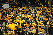 PITTSBURGH - JANUARY 23:  Pittsburgh Steelers fans wave Terrible Towels in support of their team and against the New England Patriots during the AFC Championship game at Heinz Field on January 23, 2005 in Pittsburgh, Pennsylvania. The Pats defeated the Steelers 41-27. ©Paul Anthony Spinelli