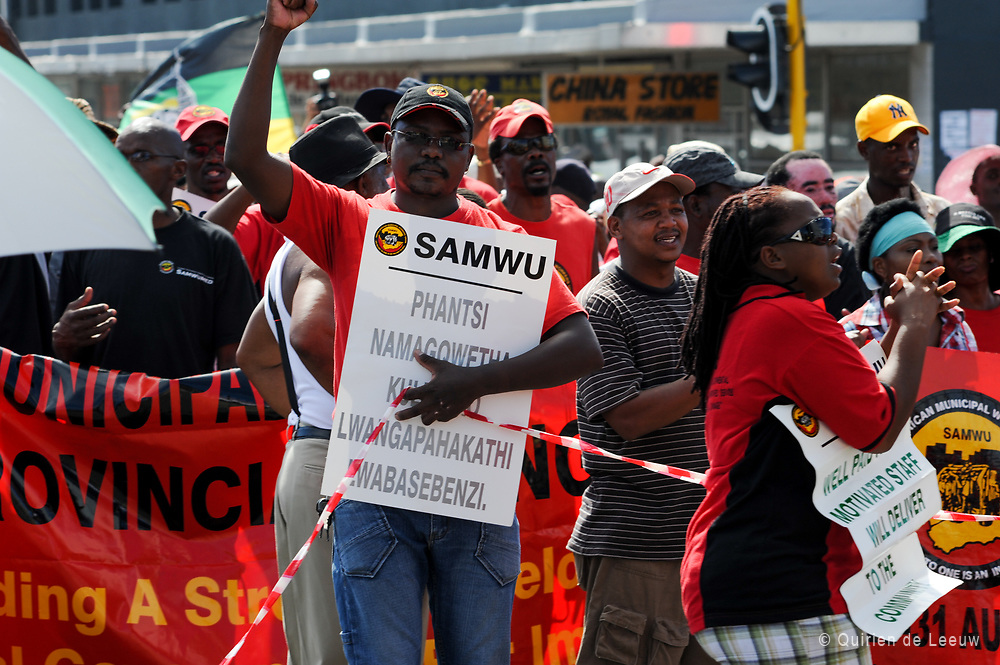 Samwu strike in Port Elizabeth South Africa