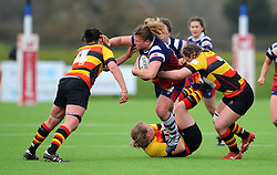 Sarah Bern of Bristol Bears Women is challenged by Burnfield of Richmond Women - Mandatory by-line: Nizaam Jones/JMP - 23/03/2019 - RUGBY - Shaftesbury Park - Bristol, England - Bristol Bears Women v Richmond Women- Tyrrells Premier 15s