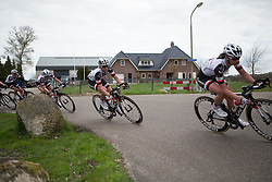 Julia Soek (NED) of Team Sunweb leans into a corner during the last lap of Stage 4 of the Healthy Ageing Tour - a 126.6 km road race, starting and finishing in Finsterwolde on April 8, 2017, in Groeningen, Netherlands.