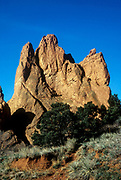 Sedimentary rock formation in the Garden of the Gods Park, Colorado, USA.
