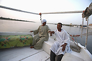 Sailing felucca on Nile River, Aswan, Egypt