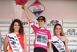 Annemiek van Vleuten (NED) retains her lead in the points classification during Stage 8 of 2019 Giro Rosa Iccrea, a 133.3 km road race from Vittorio Veneto to Maniago, Italy on July 12, 2019. Photo by Sean Robinson/velofocus.com