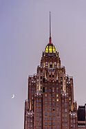 70 Pine St, New York City, NY, as designed by the firms of Clinton & Russell and Holton & George in the Art Deco style